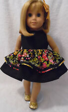 Doll Clothes fits 18 inch American Girl etc 3pc LOT DRESS/SHOES & HAIRPIECE