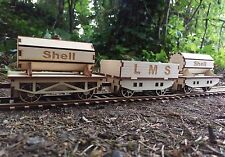 Goods Wagons for O gauge wooden Steam Train Tanker & Plank Wagon self build kit