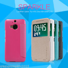 For HTC One M9 Plus / M9+ Nillkin Sparkle PU Leather Folio Diary Flip Cover Case