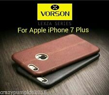 Vorson ®*LEXZA SERIES*LEATHER SHELL Back Cover Case For Apple iPhone 7 Plus *
