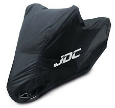 JDC Waterproof Motorcycle Cover Motorbike Breathable Vented Black Top Box - RAIN
