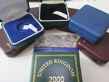 GB Vintage sovereign caja/funda varios Royal mint,Pobjoy para completa