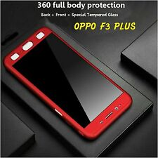 Oppo F3 / F3 Plus 360 DEGREE FULL BODY PROTECTION Front Back Tempered Cover Case