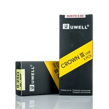 Pack Of 4 Genuine Uwell Crown 3 III Tank Coils Replacement Sub Ohm 0.5 & 0.25 Ω