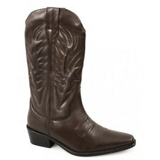 Gringos KANSAS Mens Calf Full Length Leather Cowboy Boots Brown