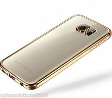 New Chrome Plated Bumper Frame Soft TPU Cover Case For Samsung Galaxy Models