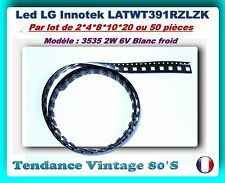 *** LOTS LG LED BACKLIGHT LATWT391RZLZK REF.3535 2 W 6V BLANC FROID ***