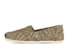 Toms Classic Desert Gris Topo FOIL Feathers 10010786 - Mujer - Marrón + NUEVO +
