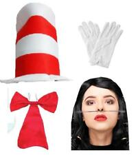 COSTUME DR Suess Book Week Costume Gatto nel cappello guanti BAFFI