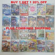 Nintendo Wii Games =Top Titles/Rare/Family =All vgc +Complete=Create your bundle