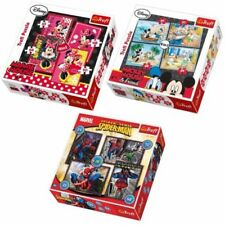 Disney Mickey Minnie Mouse Spiderman Jigsaw 4 in 1 Puzzle TREFLE 35 48 54 70