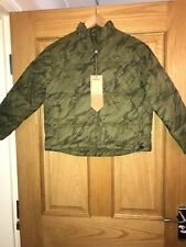 MAHARISHI WOMENS OLIVE GOOSE DOWN SHORT JACKET SIZE 12!!!