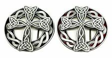Viking Cross Belt Buckle in Black or Red Celtic Authentic Bulldog Buckle Product
