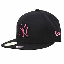New Era 59Fifty MLB NY Yankees Black Pink Fitted Hats 10358447 UW