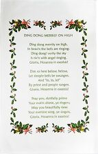 Christmas Carol CottonTea Towel from Half a Donkey - assorted Carols