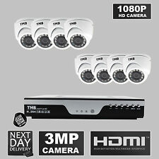 8 Channel DVR 1080P HD 3MP Outdoor IR Home Security CCTV Camera Systems DIY TMB