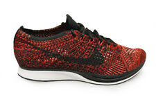 Mens Nike Flyknit Racer - 526628 608 - University Red Tranier