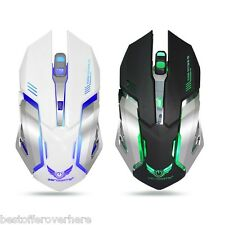 zerodate X70 DUAL MODE WIRELESS/con filo Mouse da GIOCHI 2400DPI con Breathing