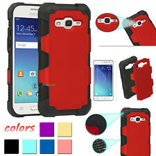 Hybrid Rugged Rubber Armor Phone Case Cover For Samsung Galaxy Grand P