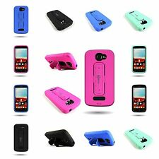 Hybrid Armor Case W/ Kickstand for ALCATEL One Touch Fierce 2 (7040T)