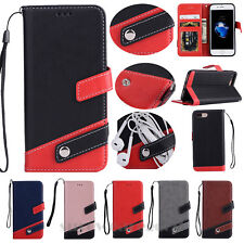 Luxury Stand PU Leather Flip Wallet Card Strap Case Cover For iPhone 6