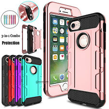 Shockproof Hybrid Hard PC+TPU Matte Phone Case Cover For Apple iPhone