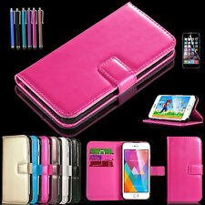 PU Leather Credit Card Holder Wallet Flip Case Cover For Apple iPhone