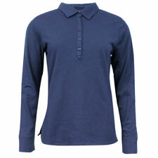 Tommy Hilfiger Golf Long Sleeved Womens Polo Shirt Top Navy Blue TW103 31 UA6