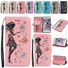 Leather Folio Wallet Pouch Flip Slim Case Cover Stand For Apple iPhone
