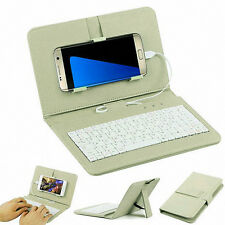 General Wired Keyboard Flip Holster Case For Andriod Mobile Phone 4.2'