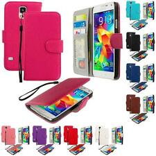 For Samsung Galaxy S5 Leather Wallet Leather Pouch Case Cover Flip Car