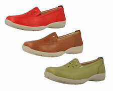 Donna Easy B pelle vestibilità larga Scarpe Slip-on GALWAY