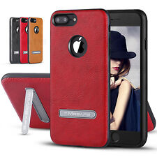For iPhone 6 6S 7 Plus Ultra-thin Luxury Leather Hybrid Protective TPU