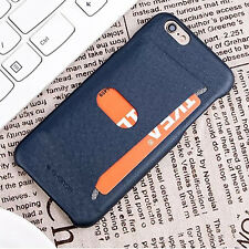 Ultra-thin Protective Hard Back Case Cover Card Pocket For iPhone 5s 6