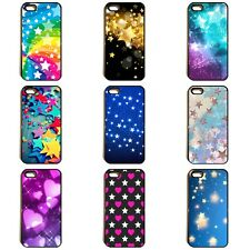 STARS HEARTS COLOURFUL BLING GLITTER RAINBOW PHONE CASE COVER FOR iPhone SAMSUNG