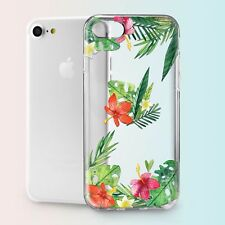 Tropical Floral Design TPU Silicone Cover Case Back Apple iPhone 4s 5