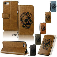 Luxury Flip Rugged Leather Slim Bumper Card Pocket Case Cover For iPho