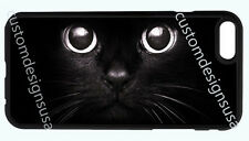 BLACK CAT EYES ANIMAL BLACK PHONE CASE COVER FOR IPHONE 7 6S 6 PLUS 5S