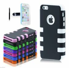 PC Shockproof Dirt Dust Proof Hard Cover Case For iPhone 5C w/ Screen