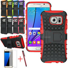 Armor Shockproof Rugged Rubber Hybrid Hard Stand Case Cover For Samsun