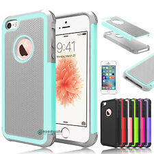 Shockproof Hybrid Rugged Rubber Hard Armor Case Cover for Apple iPhone