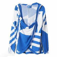 Adidas Originals Womens Blue White Couture Pullover Hoodie S19852 R2J
