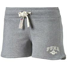 Puma Authentic Grey Slim Fit Womens Cotton Polyester Shorts 832114 08 R2K