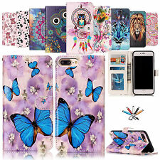 New Patterned Leather Flip Case Stand Wallet Magnetic Cover For iPhone