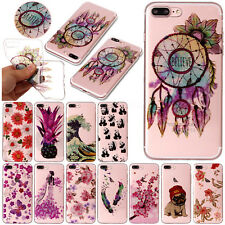 For iPhone 6s 7 Plus Painted TPU Case Ultra Slim Rubber Protect Soft C