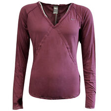 Nike Active Long Sleeve Tee Top Fitness T-shirt Womens Purple 253059 650 DD15