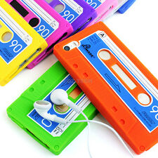 For Apple iPhone 5S 5 Colorful Cassette Retro Tape Silicone Soft Gel C