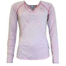 Nike Active Long Sleeve Tee Top Fitness T-Shirt Womens Pink 253059 621 UA79