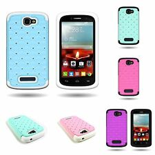 Diamond  Studded Hybrid  Case for ALCATEL  One Touch Fierce 2 (7040T)