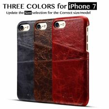 Luxury Shockproof Genuine Leather Slim Wallet Card Slot Cover Case for